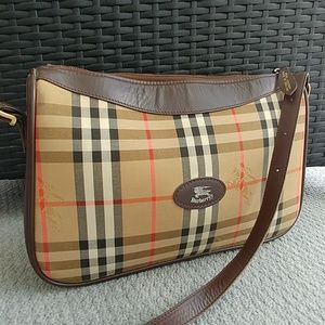 Burberrys early vintage Nova Check purse bag